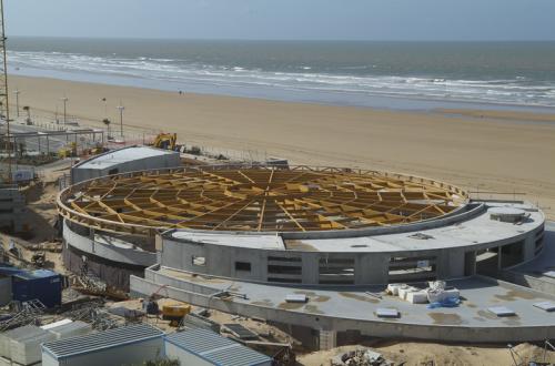 Construction du centre aquatique